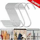 "20/40Pcs Heavy Duty 3.7"" S Shaped Hooks Hanging Hangers Pan Pot Holder Rack Hook"