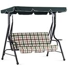 Mcombo Porch Canopy Swing Patio Swing, Convertible Canopy, w/Cushions, 4008