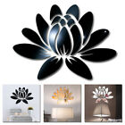 Room Decoration Mirror Surface Stickers Self-adhesive Acrylic Blooming Lotus
