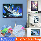 3 Patterns 5D Diamond Embroidery Full Drill Painting Cross Stitch Art Deco