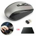 2.4GHz Wireless Cordless Optical DPI Mouse Mice With Pad for PC Laptop+TypeC US