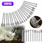 20 Tungsten Carbide Burr Bit Cutting Carving Routing Bur For Dremel Rotary Tools