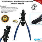 """JEWELLERY RING AND BRACELET FLAT STOCK PLIERS SHAPING BENDING FORMING 7.0"""" BLACK"""