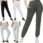 Womens Fleece Trousers Casual Sweatpants  Oversized Lounge Wear Cuffed Joggers
