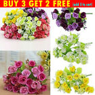 21heads Rose Artificial Silk Fake Flowers Plants Wedding Home Decor Bouquet