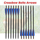 12x 16-22inch Archery Crossbow Arrows Aluminum Shaft Target Hunting Shooting
