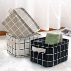 Foldable Storage Basket Box Fabric Small Toy Cosmetic Cases Desk Organizer Tidy