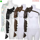 1Pc Punk PU Adjustable Metal Rivets Shoulder Armors with Arm Strap Sets Cosplay