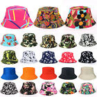 Bucket Hats Womens Mens Hunting Fishing Beach Festival Wide Brim Sun Caps Fitted