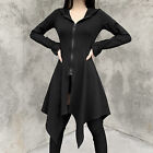 Gothic Women Black Coat Jacket Hoodies Clothes Steampunk Long Sleeve Coats Tops