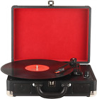 DIGITNOW!Three Speeds Turntable Retro Record Player with Built-in black
