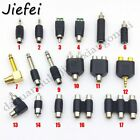 17 types of RCA adapters Audio plug stereo mono 6.35mm 3.5mm to female male
