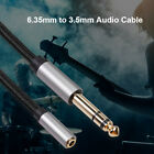 1/4 Male to 1/8 Female Headphone Stereo Adapter 6.35mm to 3.5mm Audio Cable Cord