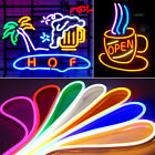 2PCS Led Neon Lamp Sign Beer Soft Flexible Tube Strip Rope Bar Decoration Sports