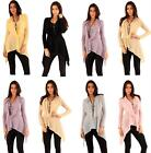Women Long Sleeve Knitted Cowl Neck Ladies Knitwear Jumper Pullover Tops