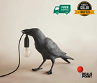 Bird Table Lamps Crow Desk Lamp Bedroom Wall Light Raven Sconce Resin Home Decor