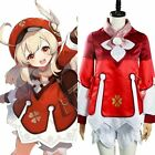 Game Genshin Impact Klee Cosplay Costume Coat Hat Halloween Outfit
