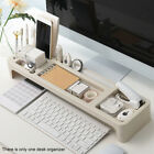 Desk Organizer Keyboard Storage Monitor Riser Home Office Stand Small Objects