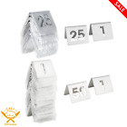 Tablecraft Stainless Steel Table Silver Tent Cut-Out Number New MULTIPLE SETS