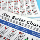 Practice Chord Sheet Learner Bass Guitar 4 Strings Chart Note Finger Exercise