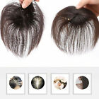 100% Human Hair Topper Clip in Thin Hairpiece Toupee Top Pieces Wiglet for Women