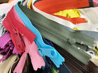 Sale 50pcs Sampler Set Mixed (Colors-Sizes) YKK #4.5 Nylon coil Handbag Zipper
