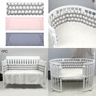 Bedroom Crib Cushion Pillows Fence Cot Protector Infant Newborn Baby Bed Bumper