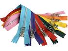 """5pcs YKK #5 Aluminum Metal Wire (Bell) Pull Closed-End Zipper Colorful 7"""",  9"""""""
