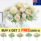 Silk Peony Artificial Fake Flowers Bunch Bouquet Home Wedding Party Decor Au