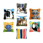 DIY Latch Hook Kit Throw Pillow Cover Craft Animal Pattern For Embroidery Carpet