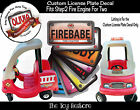 The Toy Restore Custom License Sticker Fits Step2 Fire Engine For Two Ride-on