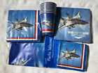 Patriotic Fighter Pilot Airplane Jet Tableware Napkins, Tablecover, Cups