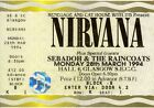 NEW Nirvana Ticket 1994 Poster Print Canvas FREE POSTAGE Glasgow