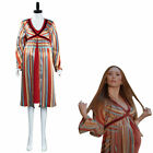 Wanda Vision Scarlet Witch Pregnancy Cosplay Costume Dress Halloween Outfit Gift