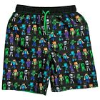 MINECRAFT CREEPER UPF-50 Bathing Suit Swim Trunks NWT Boys Size 4 or 5-6 25