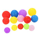8pcs Funny Cat Rolling Ball Pet Particle Rattle Squeaky Toy Random Color