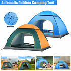 2-4 People Camping Tent Silver Coated Waterproof Pop Up Tent Advanced Venting