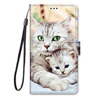 For Nokia C2 Painted Magnetic Leather Flip Wallet Bracket Strap Case Cover