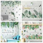 Uk Tropical Leaves Plant Wall Sticker Pvc Decal Nursery Mural Art Decor Home