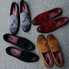 Men Moccasins Leather Lined Slip-on Suede Loafers Driving Shoes Tassel Flat Shoe