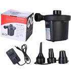 2 in1 Electric Inflator Deflator Air Pump with 3 Nozzle for Camping Padding Pool