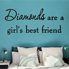 Lovely Diamonds Quotes Home Decor Modern Acrylic Decoration Wall Stickers