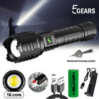 Ultra Bright Zoomable XHP160 LED USB Rechargeable Flashlight Torch Waterproof
