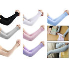 1Pair Sun Protection Arm Sleeves Ice Silk Cooling Sports Sleeve Volleyball