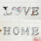 3D Mirror Wall Sticker Love / Home Letter DIY Home Decor Acrylic Adhesive Decal
