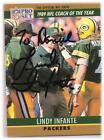 LINDY INFANTE  AUTOGRAPHED 1990 PRO SET FOOTBALL CARD GREEN BAY PACERS