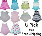 2 PIECE SUMMER SUN DRESS PANTY BABY GIRLS OUTFIT SET CHILDRENS CLOTHES KIDS