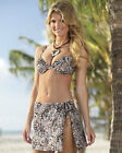 Exotic print 2 piece swimsuit size 12, 14, 16 & 18