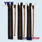 YKK #4.5 Pants Brass ~ Closed ~ Black or White
