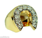 Mens Horse Shoe Lucky 18kt Gold Plated Ring New